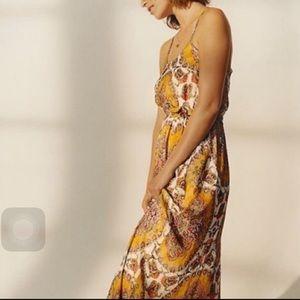Anthropologie Medallion Maxi Dress